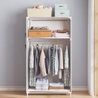 衣柜简易布衣柜宿舍小号出租房用布艺组装柜子折叠单人收纳挂衣橱