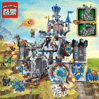 启蒙积木男孩拼装玩具儿童拼插骑士团城堡幻影荣耀模型6-7-8-10岁抖音