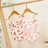 女宝宝夏季三角哈衣可爱萌婴儿宝宝外出服婴儿夏装衣服
