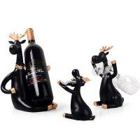 创意红酒架摆件家用酒柜装饰品摆件现代北欧酒柜装饰红酒杯架倒挂
