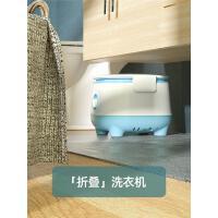 POLO洗�m子神器�纫卵�宿舍小型迷你�水甩干折�B洗衣�C��和�家用