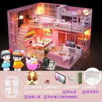 【品牌特惠】房子模型diy小屋迷你小房子拼�b手工��意制作生日�Y物女玩具