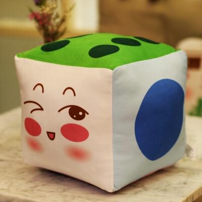 可爱表情麻将抱枕创意家居色子骰子靠垫毛绒玩具个性礼物批发定制