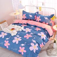 四件套全棉纯棉被套床单三件套床上用品学生宿舍单人1.8m1.5米1.2