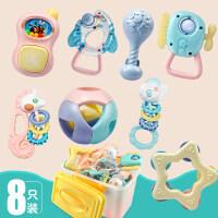 婴儿摇铃牙胶手摇铃新生儿0-3个月宝宝6-12个月手抓球玩具