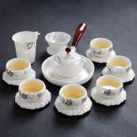 【新品热卖】景德镇功夫茶具套装家用简约喝茶小茶杯陶瓷白瓷泡茶壶整套泡茶器