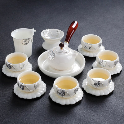 【新品热卖】景德镇功夫茶具套装家用简约喝茶小茶杯陶瓷白瓷泡茶壶整套泡茶器 破损补寄