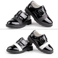 男童皮鞋儿童黑色英伦风童鞋男演出鞋子中大童表演鞋