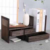 实木架子桌面置物架学生书桌桌上迷你小书架飘窗收纳书柜组合书橱