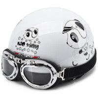 摩托车头盔男电瓶车女士夏季四季轻便式半覆式防晒可爱安全帽