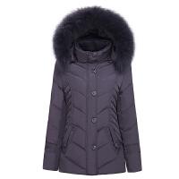 冬季新款中老年加肥加大妈妈装奶奶装中年中长款羽绒服女士外套