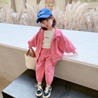 女童秋装套装宝宝春秋运动小女孩卫衣儿童三件套