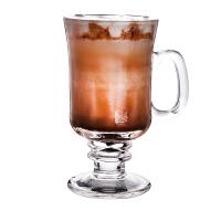 带把拿铁爱尔兰咖啡杯冷饮杯沙冰饮料杯玻璃水杯冰咖啡杯鸡尾酒杯