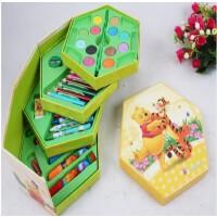 儿童喜欢 生日礼物迪士尼文具套装 绘画套装 46色水彩笔套装礼盒
