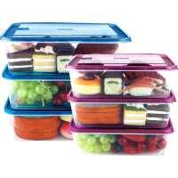 ��|多保�r盒冰箱用收�{盒微波�t加�犸�盒便��盒水果盒塑料6件套