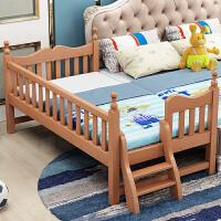 定做榉木实木拼接床小床婴儿床单人床加宽床边带护栏 其他 不带