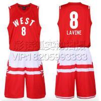 0号威斯布鲁克篮球服 2016全明星球衣东西部篮球服套装背心 团购比赛装免费定制LOGO设计印字印号