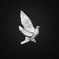 简约鸽子胸花 领针西服胸针 男复古西装外套别针 徽章男士配饰 银色*和平鸽胸针 XZC184