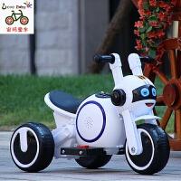 儿童电动摩托车三轮车带护栏轻便手推车小孩宝宝充电玩具车可坐人