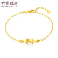 六福珠宝goldstyle系列小蛮腰黄金手链含延长链定价HMA15I60109