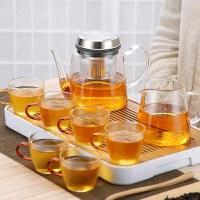 唐丰玻璃升降茶壶小套组家用耐热透明壶功夫过滤冲茶器现代日式