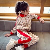女童运动套装春秋儿童套装中大童小女孩秋装休闲两件套