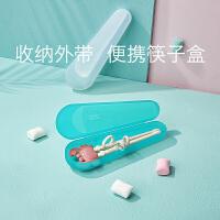 babycare宝宝筷子盒餐具收纳盒 儿童带盖便携盒装学生勺叉子筷子