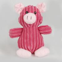Madden 麦豆宠物用品 狗狗玩具 宠物毛绒发声玩具 割条绒小猪形状狗玩具
