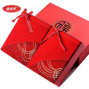 2条装 金丰田女士本命年狗年大红性感蕾丝平角裤659