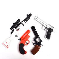 儿童电动玩具枪声光投影宝宝卡通98K迷你左轮小玩具枪2-3岁耐摔男 4把一起带回家送 颜色随机 含电池