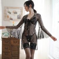 性感情趣内衣骚诱惑开裆挑逗床上睡衣透明用具三点式套装