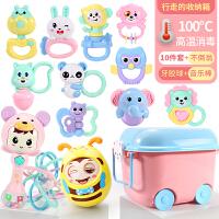 婴儿摇铃新生儿童玩具3-6-12个月益智手摇铃女宝宝软胶男孩0-1岁