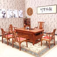 【优选】茶桌 实木家具中式茶桌椅组合木功夫茶几木茶台
