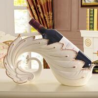 欧式酒柜装饰品客厅创意现代家居红酒架摆件陶瓷孔雀乔迁新居礼品