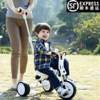 儿童车三轮脚踏车2-3-5岁小孩单车宝宝车子无印简约推杆手推童车QL-57