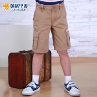 【两件1.3折价:17.4元】英格里奥童装男童装夏装男童休闲短裤夏装5228