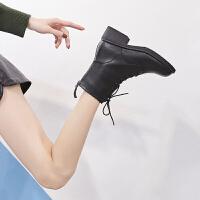 ZHR2018秋冬季新款ins马丁靴女中筒网红靴子英伦风女鞋百搭瘦瘦靴
