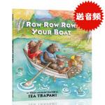 英文原版绘本 Row Row Row Your Boat 平装 廖彩杏书单第37周 第71本 2-7岁儿童故事歌谣 你