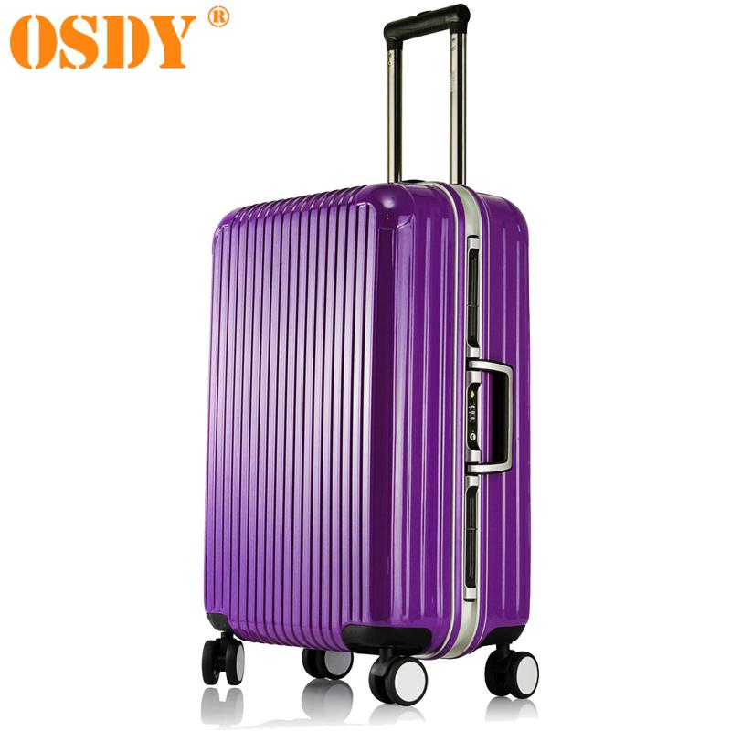 OSDY铝框旅行箱20寸登机拉杆箱商务出差26寸行李箱万向轮旅行箱深框工艺,大承重