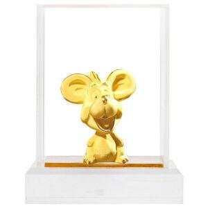 梦克拉 绒沙金黄金摆件铸金摆件工艺品家居饰品礼品十二生肖 任选