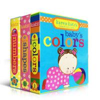顺丰发货 Karen Katz's Brand-New Baby系列3本套装Baby's Shapes colors numbers纸板书 幼儿启蒙认知英文原版亲子读物