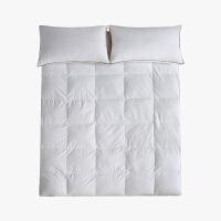 当当优品羽绒床垫 纯棉立体加厚鸭绒床垫 单人床褥120*200cm