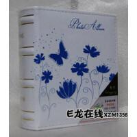 靓影 仿皮相册影集 4D/6D/大6寸相册100张 花蝴蝶 白底蓝色