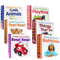 顺丰发货 DK Baby Touch and Feel 6本套装Farm Friends Bedtime  Colours and Shapes幼儿启蒙认知触摸书 进口原版0-3岁小孩趣味绘本