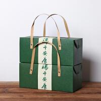 粽子包装盒手提创意6个端午节粽子礼盒外包装特产雪花酥礼盒定制 绿色1个 收藏 优先发 28x12x12cm