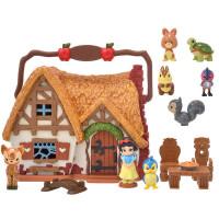 白雪公主冰雪奇�艾莎公主迷你小屋玩具�Y盒套�b 白雪公主 迷你小屋