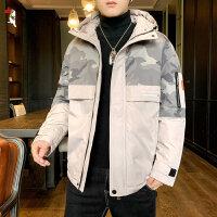 啄木鸟 棉衣男装2020年新款外套秋冬季加绒加厚羽绒棉服韩版潮流潮牌29097