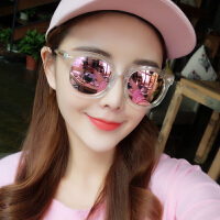 女士潮流圆脸墨镜太阳镜2019新款韩版女士个性太阳镜