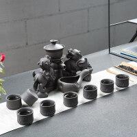 【优选】创意家用客厅全半自动功夫茶具套装懒人泡茶器紫砂茶壶耐热茶杯