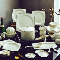 【优选】碗碟套装吃饭套碗盘子家用欧式简约瓷碗景德镇陶瓷器骨瓷组合餐具